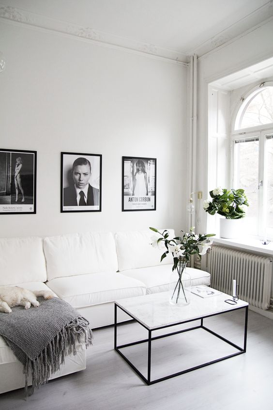 Monochromatic living room:
