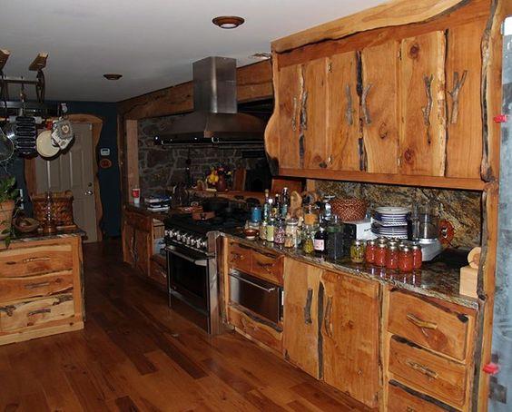 Rustic kitchen furniture as rustic furniture kitchen cabinets with good lighting then your Modern Kitchen Furniture will look attractive and charming 2