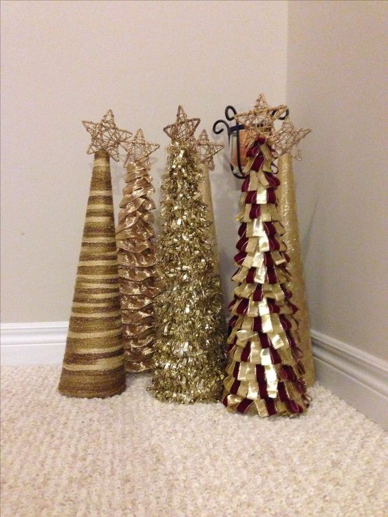 Tinsel garland wired ribbon and garlands on pinterest Christmas tree ribbon garland