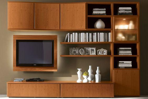 Parete attrezzata in ciliegio moderna 602 un classico - Parete attrezzata soggiorno classica ...