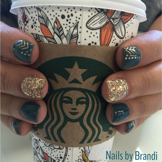 My perfect Fall nails with my perfect Fall coffee. myjbloom.com/Sharoldegroot:
