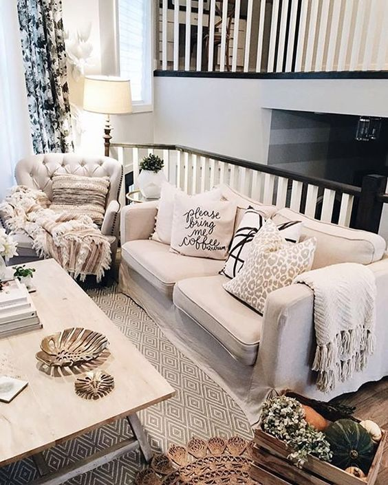 Creamy tones and patterned textures, create a warm and inviting living space with @liketoknow.it.home inspo a la @ohmydearblog | Get ready-to-shop #LTKhome details with www.LIKEtoKNOW.it | http://liketk.it/2ps3G #liketkit