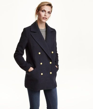 H&M Navy Peacoat with Gold Buttons - under $75 falll2015