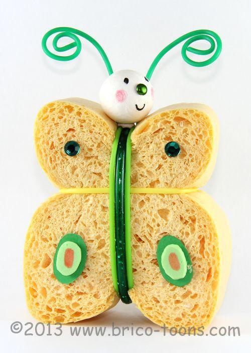 Pompon le papillon un personnage en ponge fabriquer - Guirlandes en papier a faire soi meme ...