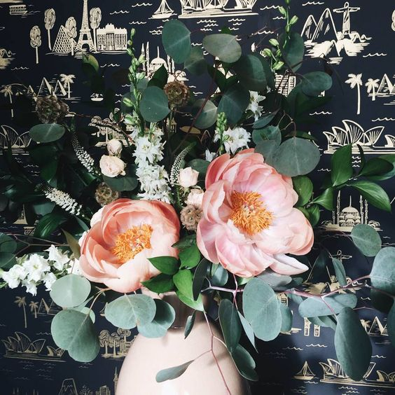 "Rifle Paper Co. on Instagram: ""There's nothing like having beautiful fresh flowers in the studio! This week's arrangement courtesy of @dearwhimsy"""