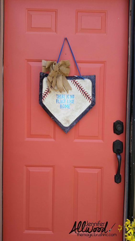 baseball door decorating