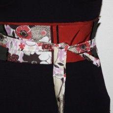 couture - tutoriel en français d'une ceinture obi