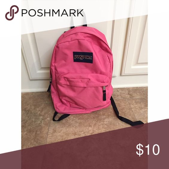 Pink Jansport Backpack I love this backpack, and you will too! It's super light, bright pink, and it great for school time. I've only used it a handful of times- so it's in great condition. Jansport Bags Backpacks