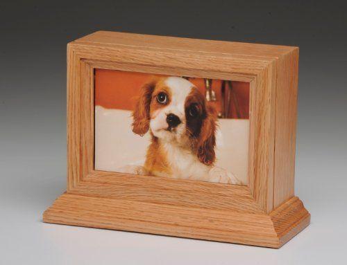Pet Urn Oak Wood Photo Frame Pet Urn With Glass Frame Dog