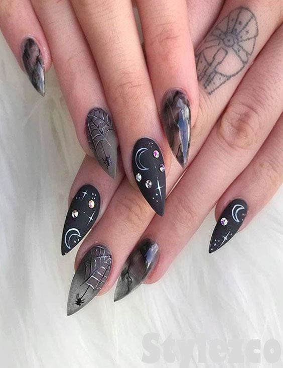 Edgy Black Nail Art Style \u0026 Designs To Try Right Now