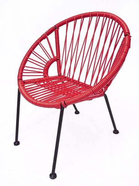 Chaise scoubidou rouge mes chaises pinterest rouge for Chaise enfant scoubidou
