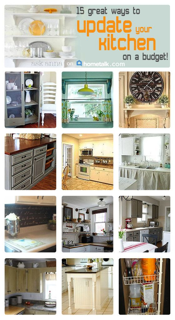 Kitchen makeovers on a budget anna m 39 s clipboard on for Kitchen upgrade ideas on a budget