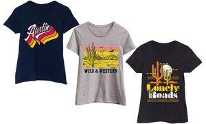 Groupon - Women's Southwestern Style T-Shirts. Groupon deal price: $14.99