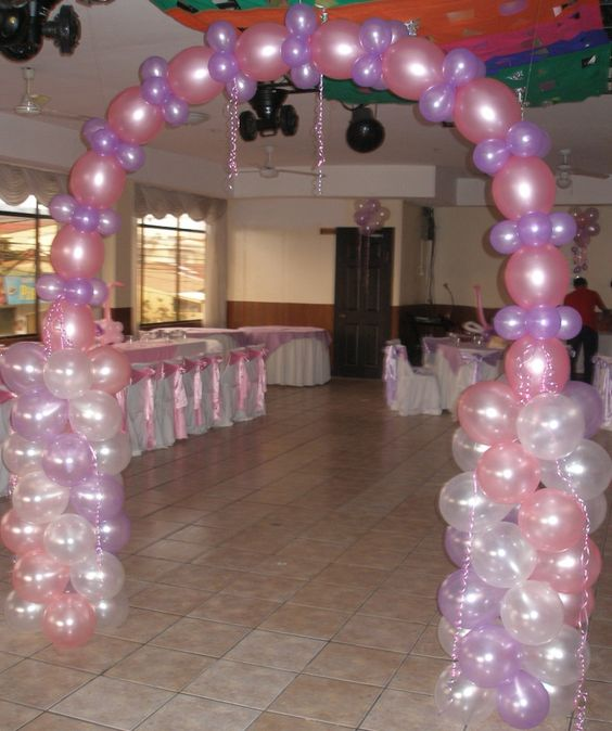 Decoraci n para 15 a os de cisnes balloon decoration - Decoracion para entradas ...