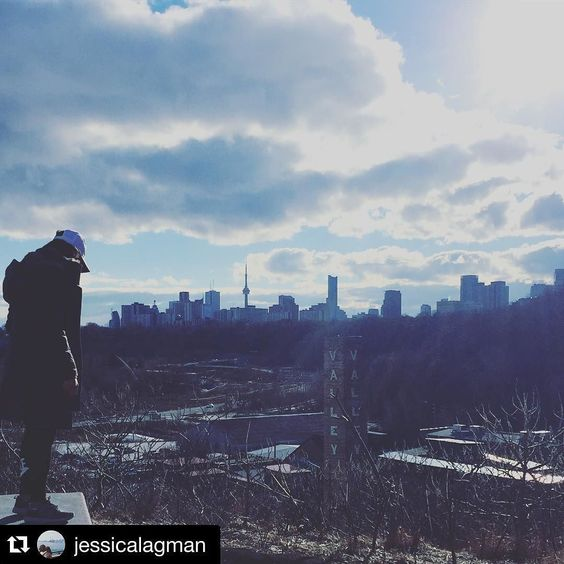 Great cities are those which value and invest in the protection and enhancement of their natural systems. We love our beautiful home in Toronto's Don Valley! The view from this lookout point reminds us that our ravines are the heart of our city.  #Repost @jessicalagman  Always take the scenic route. Wait isn't it the first week of February next week?  #warmestwinterever #getoutside #the6ix by evergreen_brick_works