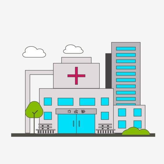 Cartoon Wind City Hospital Clinic Edificio Urbano De Gran Altura Urbano Construccion Grafico Vectorial Y Imagen Png Kartun Rumah Sakit Bangunan
