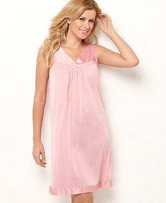 Vanity Fair Nightgown, Short Nightgown - Plus Size Pajamas & Robes ...