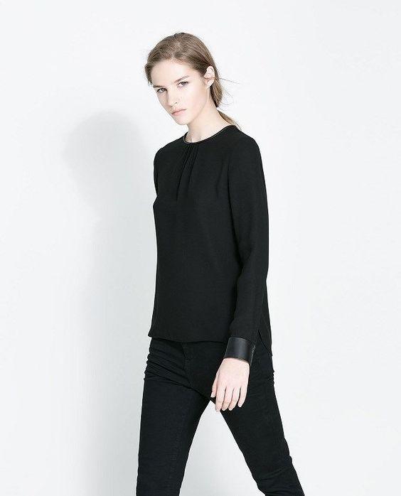 Fashoin Enchating Dizzying Black Blending round neck Long Sleeve Plain Fashion Dresses JC457-1 US$22