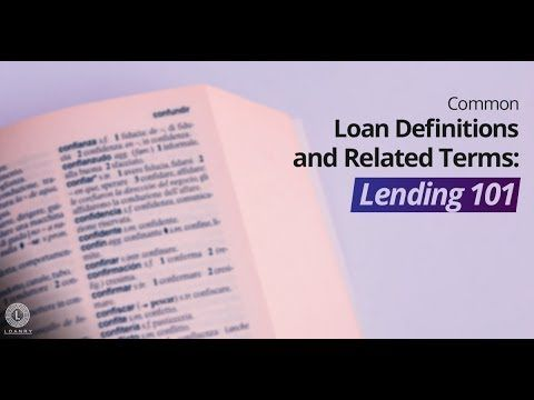 When You Begin Looking For A Loan You Can Hear A Lot Of Unfamiliar Terms This Glossary Explains Loan Terminology To Make Su In 2020 Finance Loans Loan Personal Loans