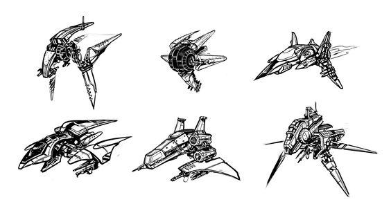 BW spaceships by SC4V3NG3R.deviantart.com on @deviantART