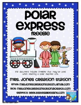 Polar Express FREEBIE | Products I Love | Pinterest | Polar Express ...