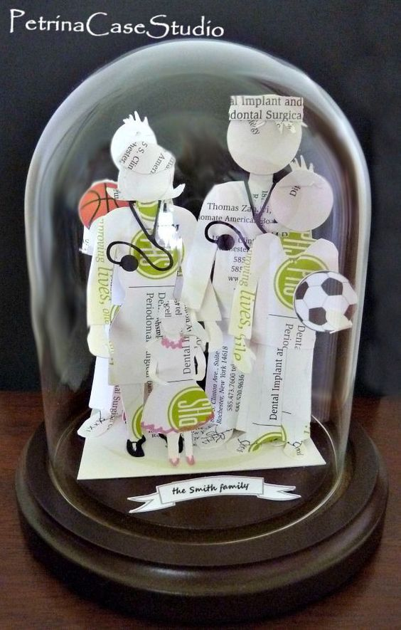 Family Business Card Sculpture. Five member family design. Made ...