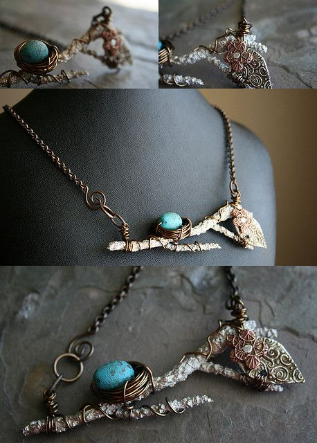 Oh I do like this  Tree branch necklace from Erin Prais-Hintz.