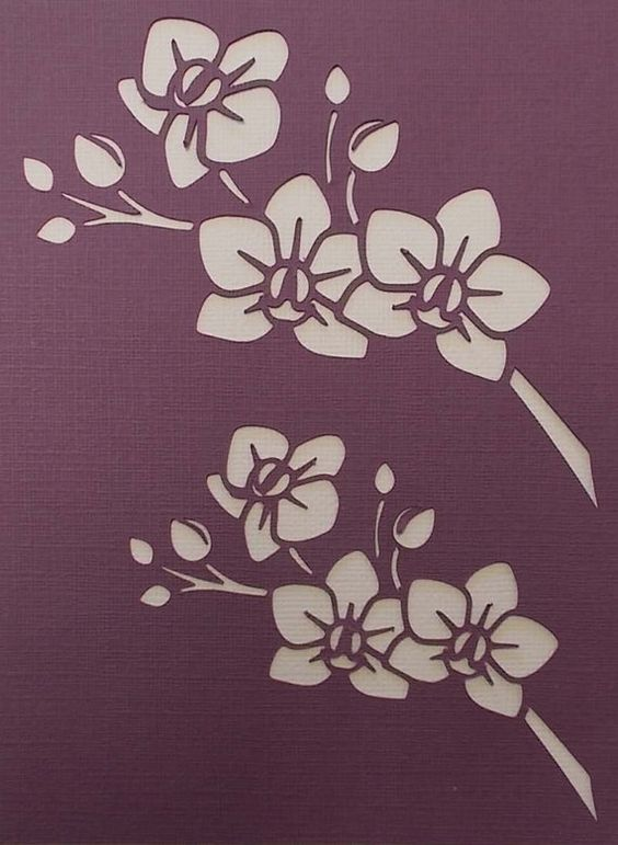 Stencils, Sprays and Orchids on Pinterest