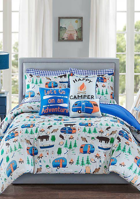 Lightning Bug Happy Camper Bedding, Bedding For Camper Queen