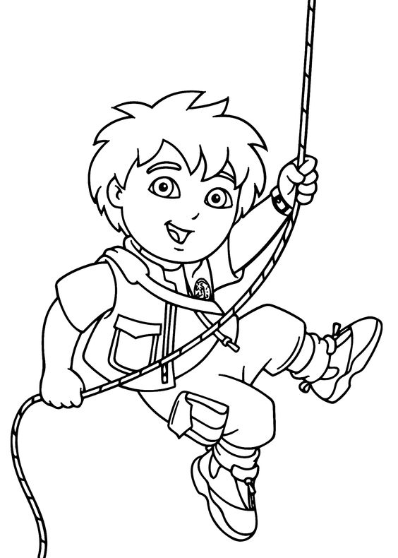 free coloring pages diego - photo#17