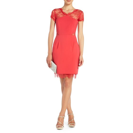 BCBGMAXAZRIA - SHOP BY CATEGORY: DRESSES: VIEW ALL: NEL LACE-BACK COCKTAIL DRESS