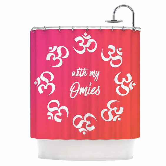 With My Omies Shower Curtain