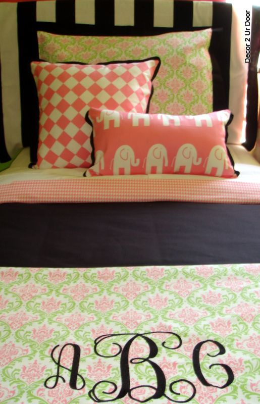 Cute Pillows For Dorm Rooms : Cute bedding, Bedding and Elephant pillow on Pinterest