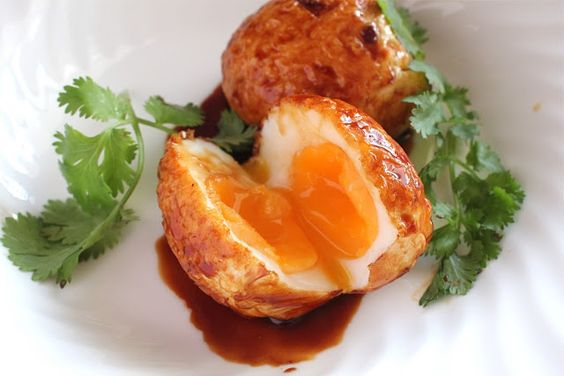Food Endeavours of the Blue Apocalypse: Son-in-law eggs with Chilli Caramel
