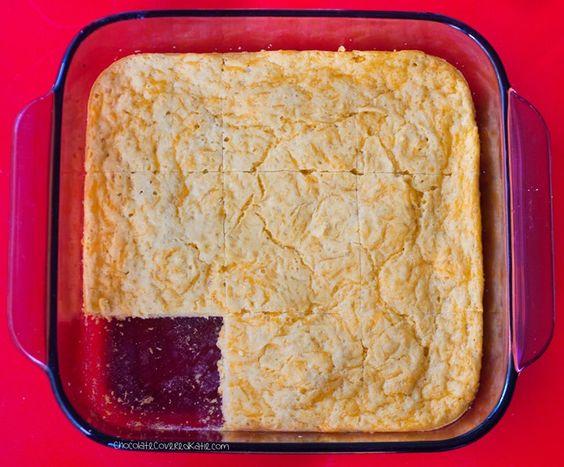 Ingredients: 1 cup milk of choice, 2 tsp vinegar, 1/4 tsp garlic powder... Full recipe link: http://chocolatecoveredkatie.com/2015/05/20/flourless-cheese-bread/