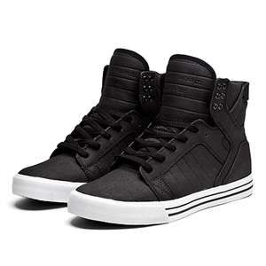 Supra Shoes Skytop Black White White Skate Shoes