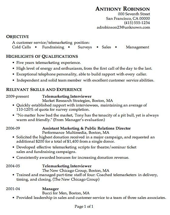 Bronsiolita acuta - telemarketing resume