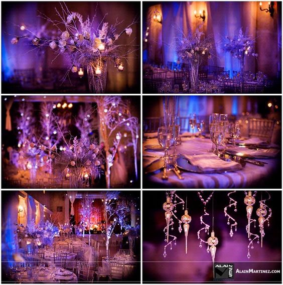 Winter wonderland wedding for the day i say 39 i do for Winter themed wedding centerpieces