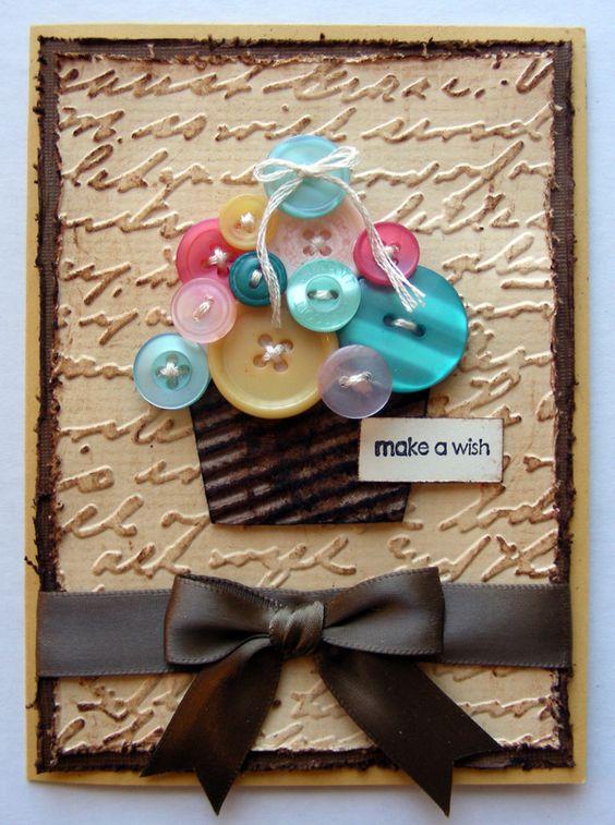 Button Cupcake card