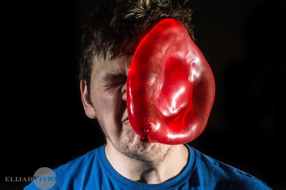 High speed photography, Balloons to face compilation.