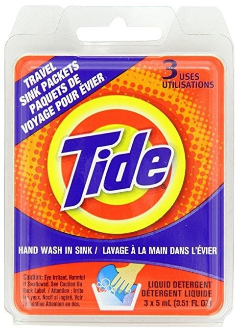 Tide Travel Sink Packets 0 51 Fl Oz 3 Pack Tide Liquid