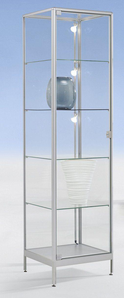 Brandschutz Vitrine 50x50x200cm Abschliessbar Vitrine Glasvitrine Brandschutz