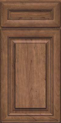Door Detail - Square Raised Panel - Solid (RTC) Cherry in Husk - KraftMaid