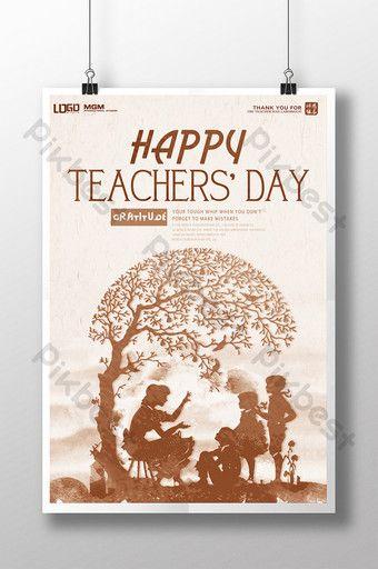 Ngày Nhà giáo giáo viên thiết kế poster vất vả rồi.#pikbest#templates