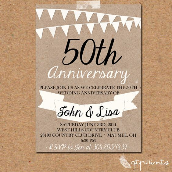 50th Wedding Anniversary Quotes: 50th Anniversary Invitations, Anniversary Invitations And