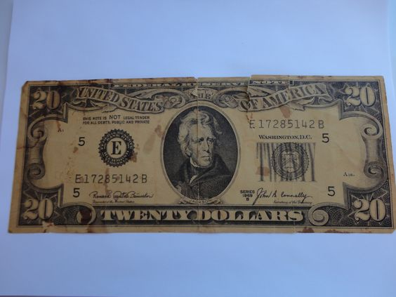 Front side Series 1969 B Federal Reserve Note