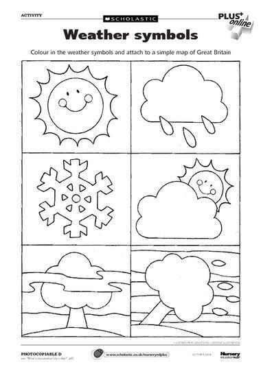 Weather Chart Coloring Pages Weather Symbols Weather Activities Preschool Weather Kindergarten