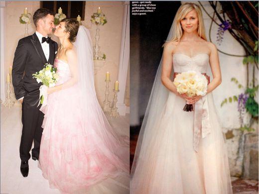 robe rose de mariage