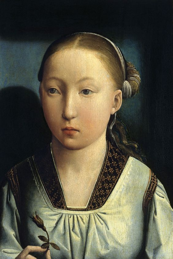 JUAN DE FLANDRES - portrait supposed to depict Catharina of Aragon at the age of 11 or her elder sister Johanna of Castilië/ Museo Thyssen-Bornemisza, Madrid