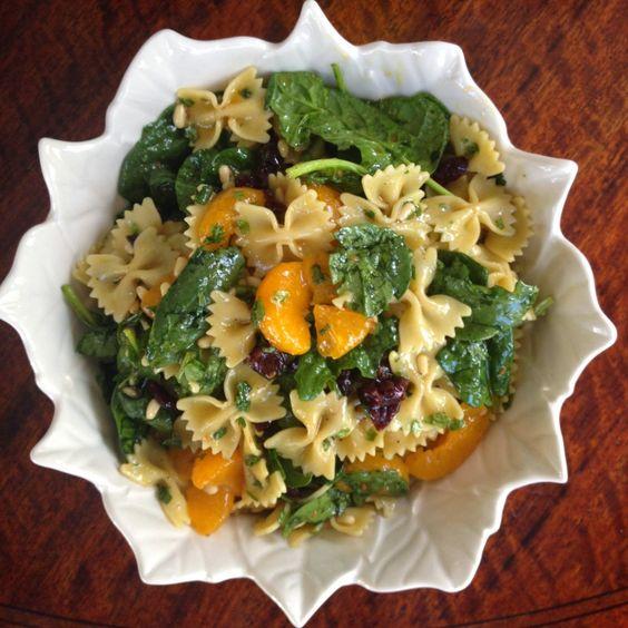 designer bags and dirty diapers: Asian Mandarin Orange + Spinach Pasta Salad
